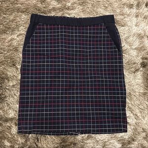 Navy plaid Tommy Hilfiger pencil skirt